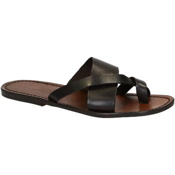 Sapatos Homem Sandálias Gianluca - L'artigiano Del Cuoio 545 U MORO CUOIO Testa di Moro