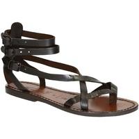 Sapatos Mulher Sandálias Gianluca - L'artigiano Del Cuoio 564 D MORO CUOIO Testa di Moro