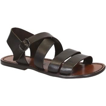 Sapatos Homem Sandálias Gianluca - L'artigiano Del Cuoio 508 U MORO CUOIO Testa di Moro
