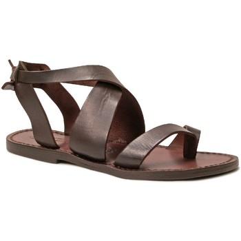 Sapatos Mulher Sandálias Gianluca - L'artigiano Del Cuoio 571 D MORO CUOIO Testa di Moro
