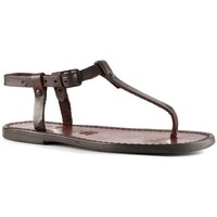 Sapatos Mulher Sandálias Gianluca - L'artigiano Del Cuoio 532 D MORO CUOIO Testa di Moro