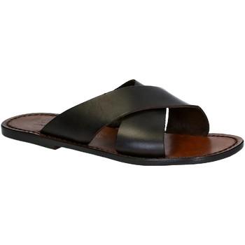 Sapatos Homem Chinelos Gianluca - L'artigiano Del Cuoio 560 U MORO CUOIO Testa di Moro