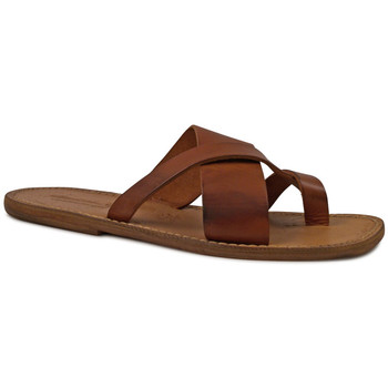 Sapatos Homem Chinelos Gianluca - L'artigiano Del Cuoio 545 U CUOIO CUOIO Cuoio