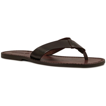 Sapatos Homem Chinelos Gianluca - L'artigiano Del Cuoio 580 U MORO CUOIO Testa di Moro
