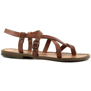 Sapatos Mulher Sandálias Gianluca - L'artigiano Del Cuoio 530 D CUOIO CUOIO Cuoio