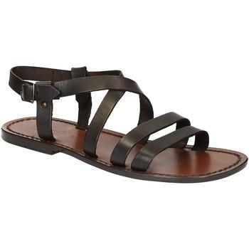 Sapatos Homem Sandálias Gianluca - L'artigiano Del Cuoio 531 U MORO CUOIO Testa di Moro