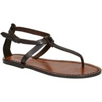 Sapatos Mulher Sandálias Gianluca - L'artigiano Del Cuoio 582 D MORO CUOIO Testa di Moro
