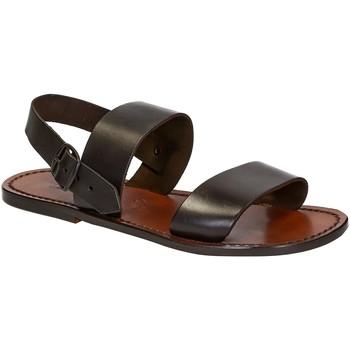 Sapatos Homem Sandálias Gianluca - L'artigiano Del Cuoio 500 U MORO CUOIO Testa di Moro