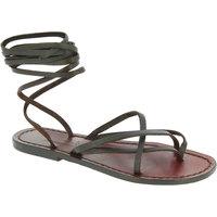 Sapatos Mulher Sandálias Gianluca - L'artigiano Del Cuoio 514 D MORO CUOIO Testa di Moro
