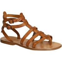 Sapatos Mulher Sandálias Gianluca - L'artigiano Del Cuoio 506 D CUOIO CUOIO Cuoio
