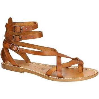 Sapatos Mulher Sandálias Gianluca - L'artigiano Del Cuoio 564 D CUOIO CUOIO Cuoio