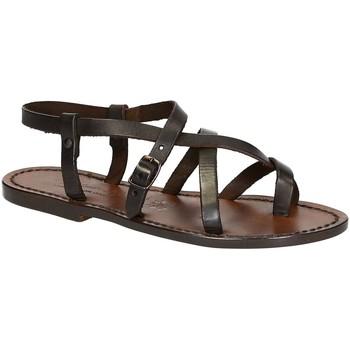 Sapatos Mulher Sandálias Gianluca - L'artigiano Del Cuoio 530 D MORO CUOIO Testa di Moro