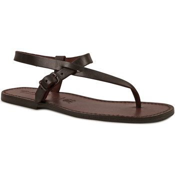 Sapatos Homem Sandálias Gianluca - L'artigiano Del Cuoio 592 U MORO CUOIO Testa di Moro