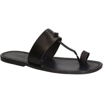 Sapatos Homem Chinelos Gianluca - L'artigiano Del Cuoio 554 U NERO CUOIO nero