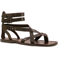 Sapatos Homem Sandálias Gianluca - L'artigiano Del Cuoio 564 U MORO CUOIO Testa di Moro
