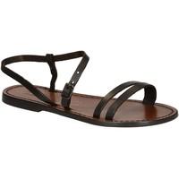 Sapatos Mulher Sandálias Gianluca - L'artigiano Del Cuoio 591 D MORO CUOIO Testa di Moro