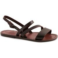 Sapatos Mulher Sandálias Gianluca - L'artigiano Del Cuoio 598 D MORO CUOIO Testa di Moro