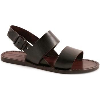 Sapatos Mulher Sandálias Gianluca - L'artigiano Del Cuoio 500X D MORO CUOIO Testa di Moro