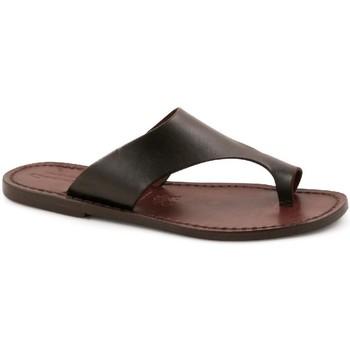 Sapatos Homem Chinelos Gianluca - L'artigiano Del Cuoio 521 D MORO CUOIO Testa di Moro
