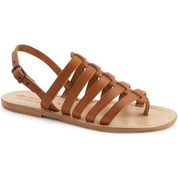 Sapatos Mulher Sandálias Gianluca - L'artigiano Del Cuoio 576 D CUOIO LGT-CUOIO Cuoio