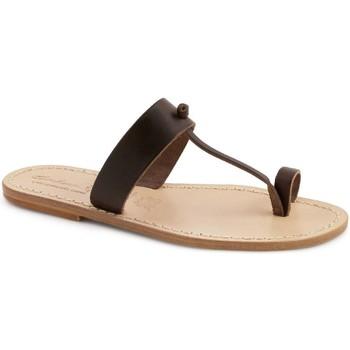 Sapatos Mulher Chinelos Gianluca - L'artigiano Del Cuoio 554 U MORO LGT-CUOIO Testa di Moro