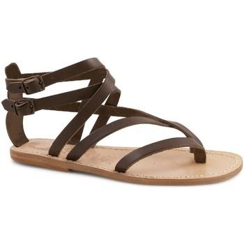 Sapatos Mulher Sandálias Gianluca - L'artigiano Del Cuoio 574 D MORO LGT-CUOIO Testa di Moro