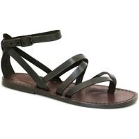 Sapatos Mulher Sandálias Gianluca - L'artigiano Del Cuoio 584 D MORO CUOIO Testa di Moro