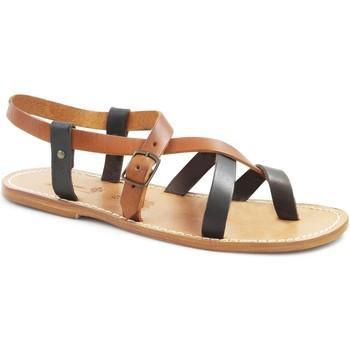 Sapatos Mulher Sandálias Gianluca - L'artigiano Del Cuoio 530 U MORO-CUOIO LGT-CUOIO Testa di Moro