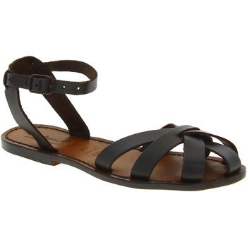 Sapatos Mulher Sandálias Gianluca - L'artigiano Del Cuoio 503 D MORO CUOIO Testa di Moro