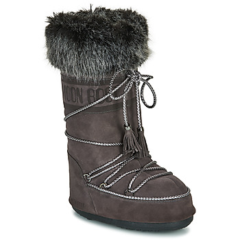 Sapatos Mulher Botas de neve Moon Boot MOON BOOT VELVET Antracite