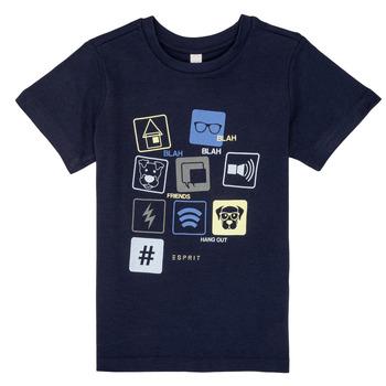 Textil Rapaz T-Shirt mangas curtas Esprit ENZIEO Marinho