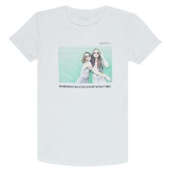Textil Rapariga T-Shirt mangas curtas Esprit ELISH Branco