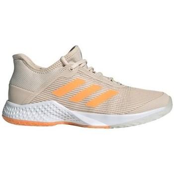 Sapatos Mulher Sapatilhas de corrida adidas Originals Adizero Club W Cinzento, Cor bege