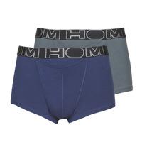 Roupa de interior Homem Boxer Hom HOM BOXERLINES BOXER BRIEF HO1 PACK X2 Cinza / Marinho
