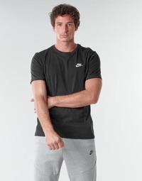 Textil Homem T-Shirt mangas curtas Nike M NSW CLUB TEE Preto / Branco