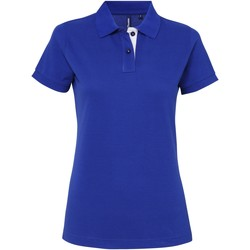 Textil Mulher Polos mangas curta Asquith & Fox Contrast Real/ Branco