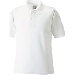 Textil Rapaz Polos mangas curta Jerzees Schoolgear 65/35 Branco