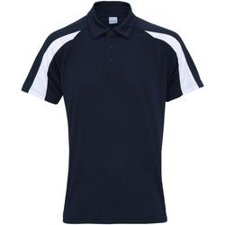 Textil Homem Polos mangas curta Awdis JC043 Marinha francesa/Árctico Branco