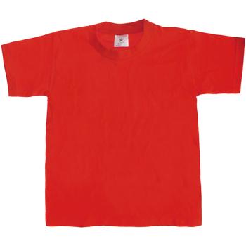 Textil Criança T-Shirt mangas curtas B And C Exact 190 Vermelho