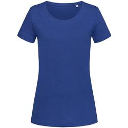 Textil Mulher T-Shirt mangas curtas Stedman Stars Sharon Azul Verdadeiro