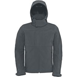 Textil Homem Corta vento B And C JM950 Cinza Escuro