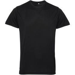 Textil Homem T-Shirt mangas curtas Tridri TR010 Preto
