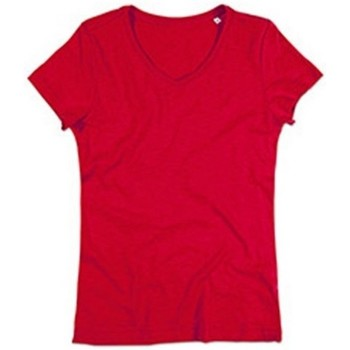 Textil Mulher T-Shirt mangas curtas Stedman Stars  Vermelho carmesim