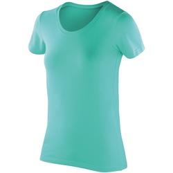 Textil Mulher T-Shirt mangas curtas Spiro SR280F Peppermint
