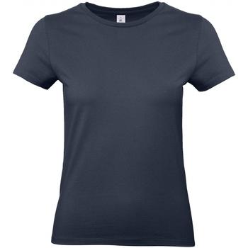 Textil Mulher T-Shirt mangas curtas B And C E190 Azul-marinho