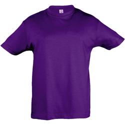 Textil Criança T-Shirt mangas curtas Sols 11970 Púrpura Escura