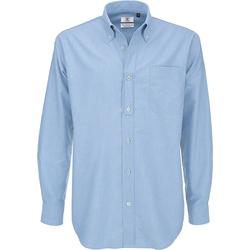Textil Homem Camisas mangas comprida B And C SMO01 Oxford Blue
