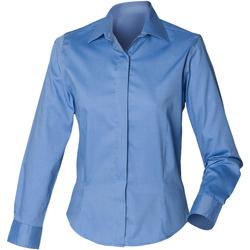 Textil Mulher camisas Henbury HB551 Azul Corporativo