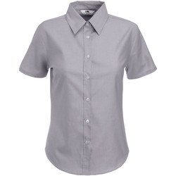 Textil Mulher camisas Fruit Of The Loom 65000 Oxford Grey