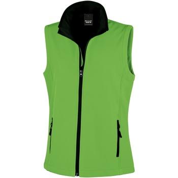 Textil Mulher Casacos de malha Result Printable Verde Vívido / Preto